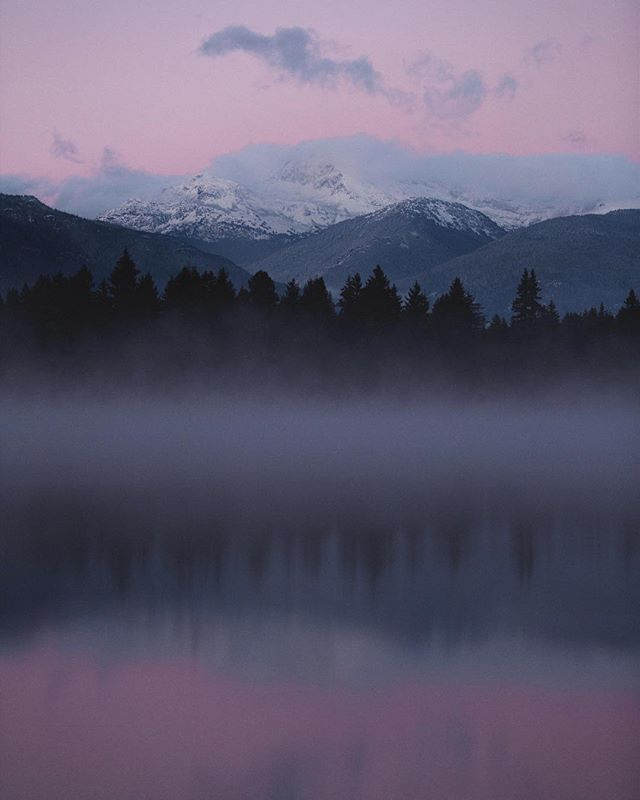 First snowfall in the Whistler valley made for quite a stunning sunset. Bring on the cold!