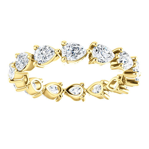 top y princess band rings gold wedding ring eternity ctw yellow bands diamond in