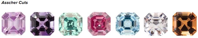Asscher Cut Gemstones