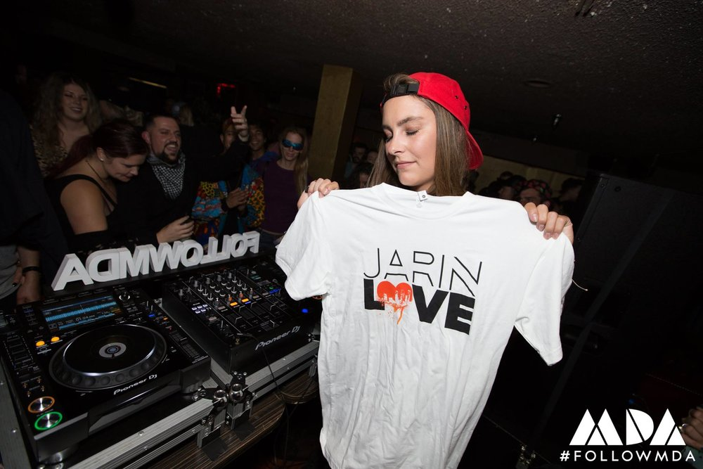 Mary Droppinz Honoring Jarin Love During Her Set.jpg
