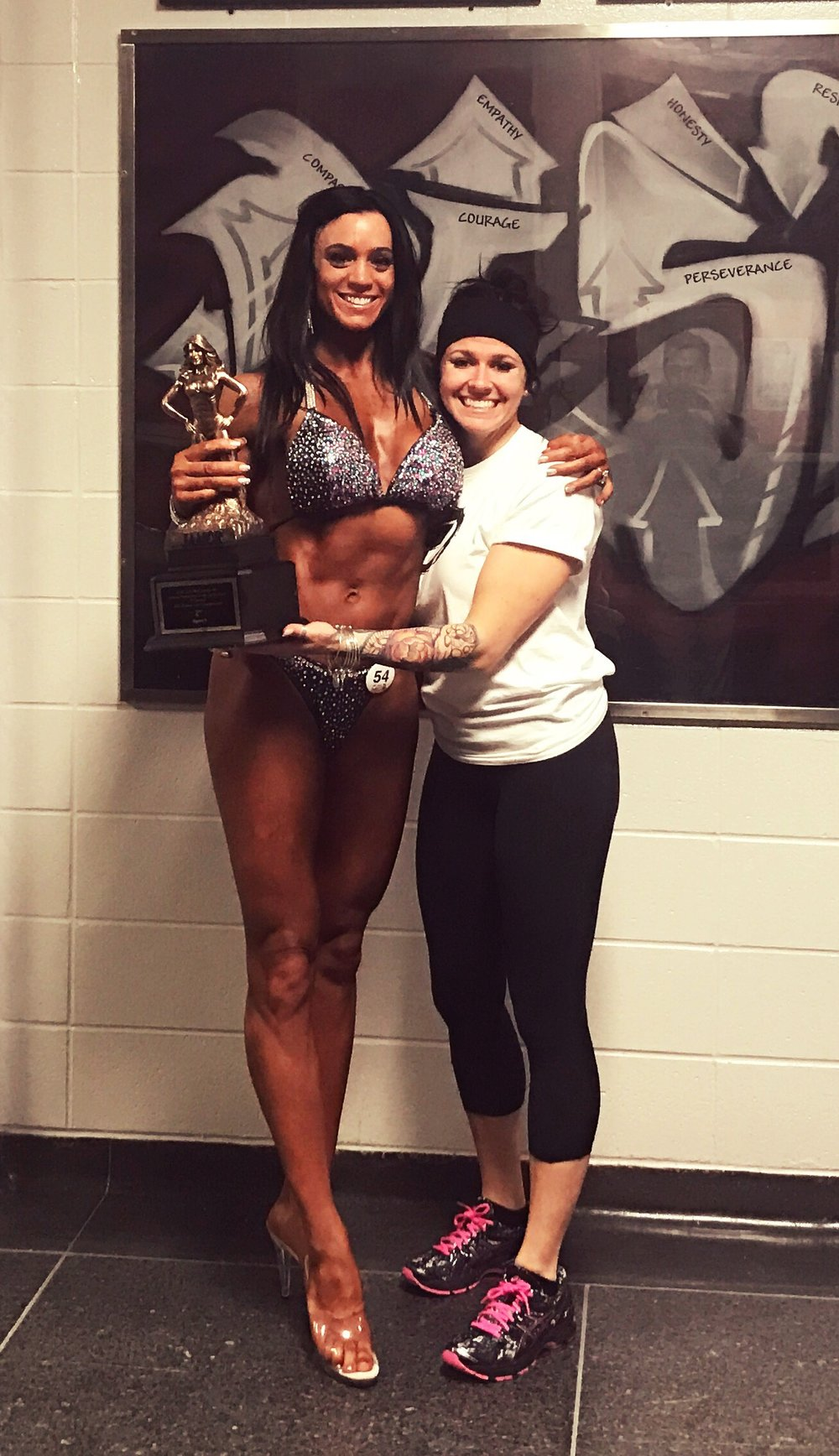 Pam took 1st place in her figure category.