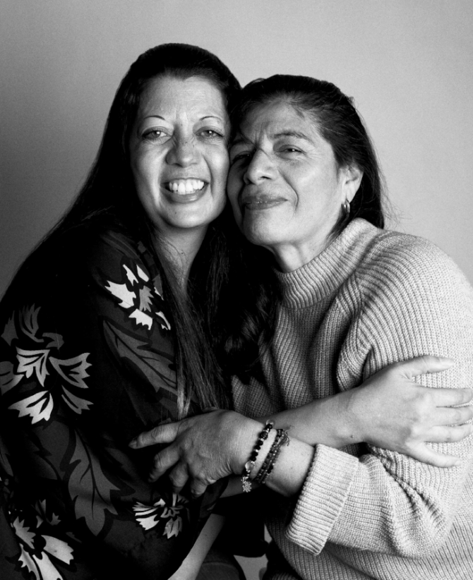 CINDY and T,  a graduate of our Housing Program, were all hugs and laughs as they enjoyed a mini reunion at our photography shoot for this campaign. T was a resident in our Safehome for a little over a year.