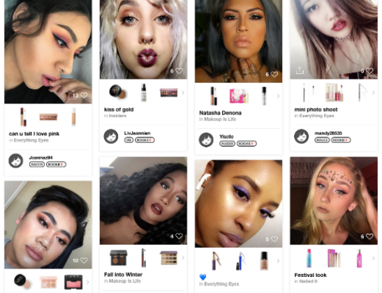Beauty Board - Desktop view