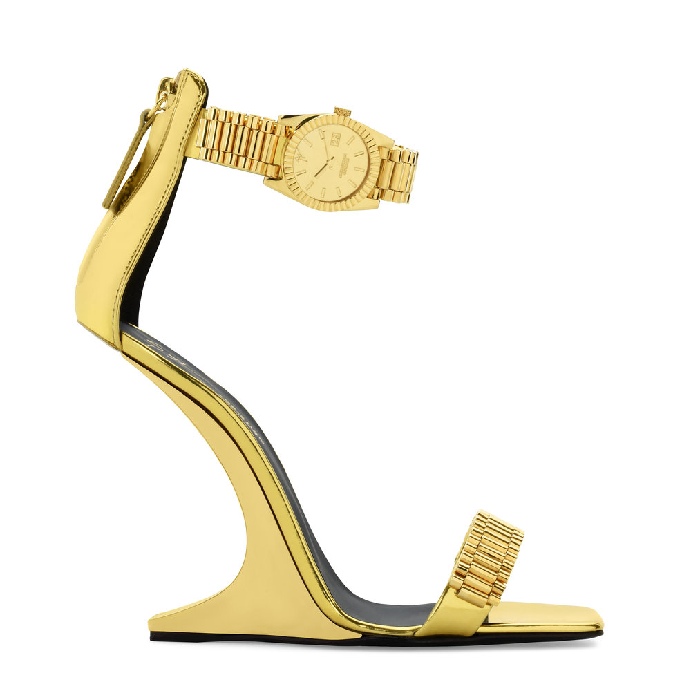 Gold Two-Strap Heel