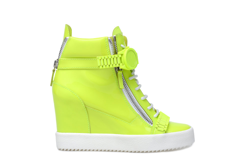 Safety Green Sneaker. COMING JULY.