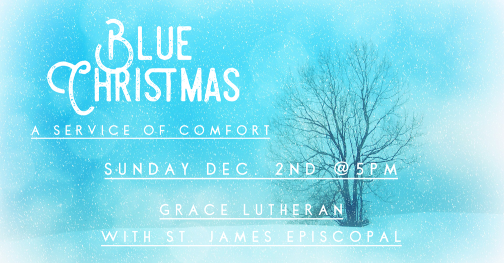 blue christmaspng - Blue Christmas Service