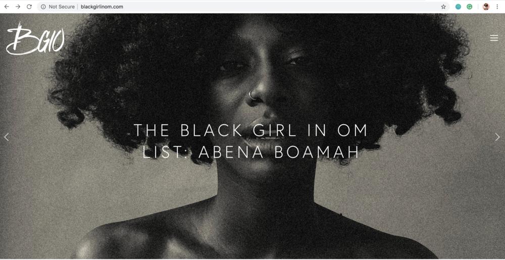 Photo Courtesy of Black Girl In Om Website