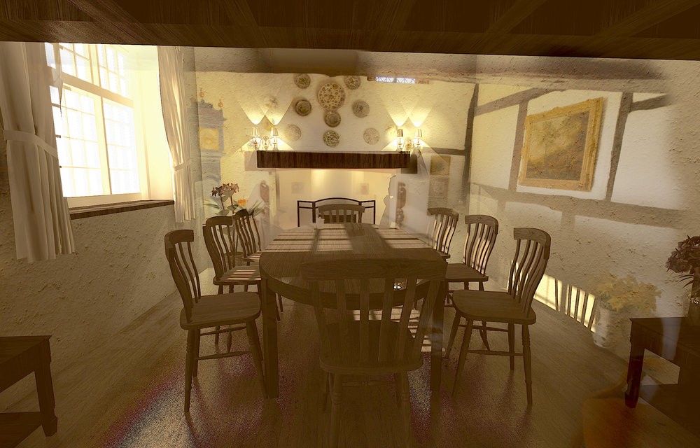 Interior Design for Main Dining Room (Option 2)