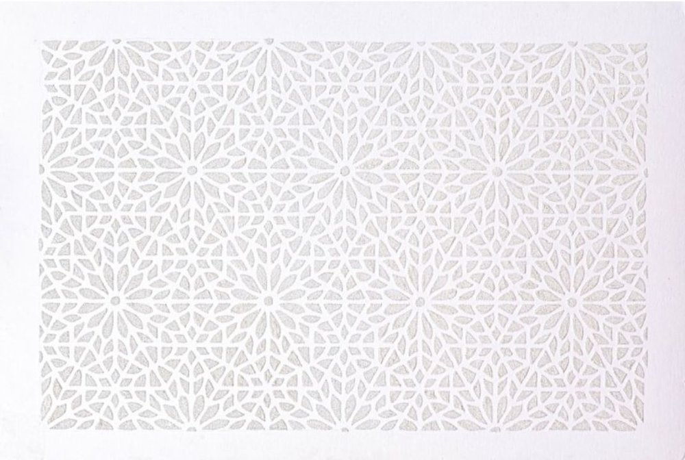 <b>Madiha Siraj </b></br><i>White on White</i></br>mixed media on board</br>30 x 20 inches</br>$1,400.00