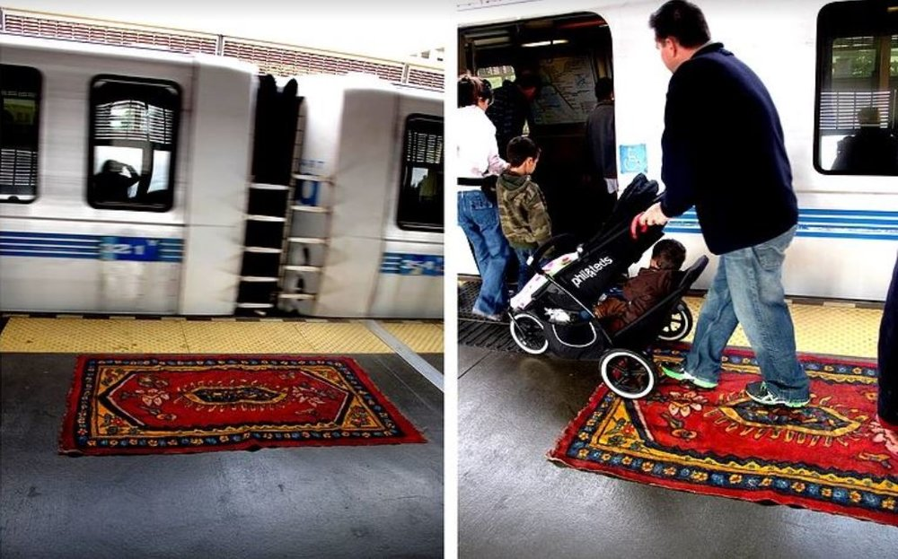 <b>Shaghayegh Cyrous</b></br><i>Lost Rug Project</i></br>painted rug installation</br>New York City