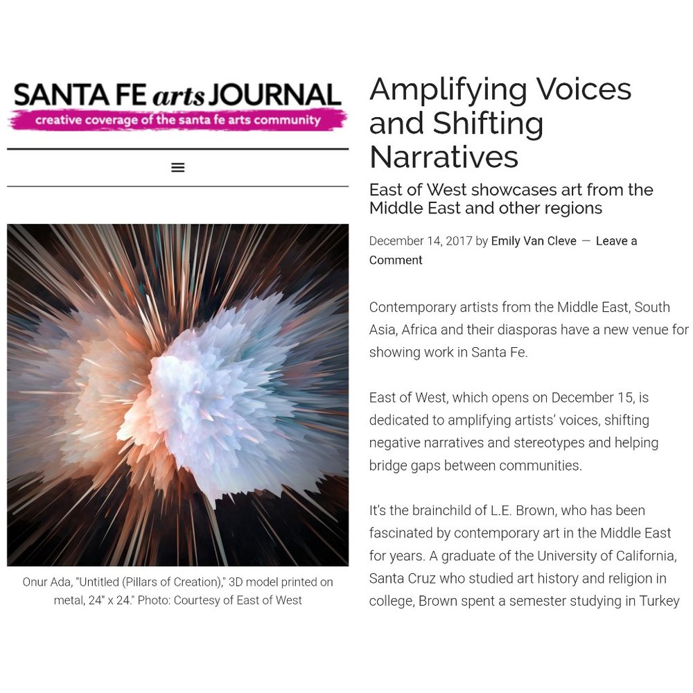 "<b><h2><a href=""https://santafeartsjournal.com/2017/12/amplifying-voices-and-shifting-narratives/"">SANTA FE ARTS JOURNAL</b></h2></a>"