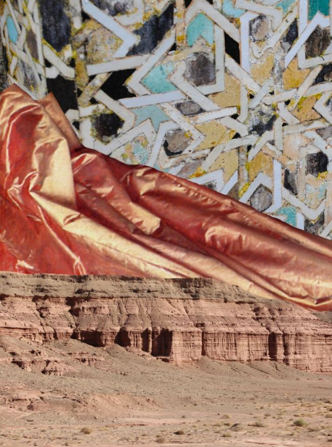 <b>Adnan Samman</b></br><i>Moroccan Textures</i></br>Digital collage</br>22.4 x 17.3 in</br>$450.00