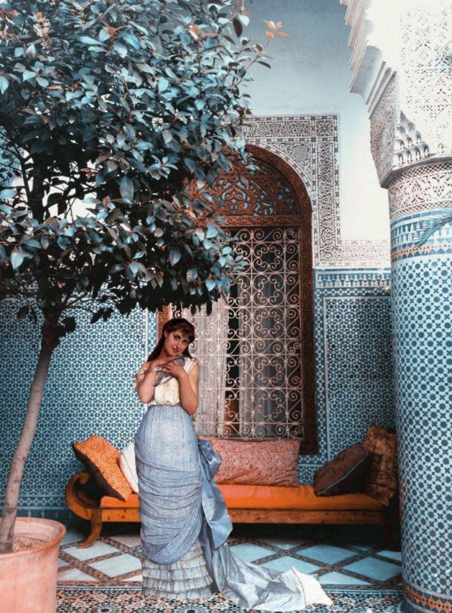 <b>Adnan Samman</b></br><i>My Muse of Blue</i></br>Digital collage</br>13 x 9.8 in</br>$350.00