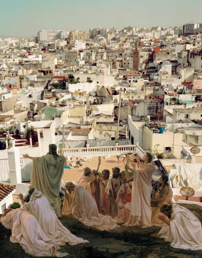 <b>Adnan Samman</b></br><i>Tangier Sunrise</i></br>Digital collage</br>25 x 20 in</br>$600.00