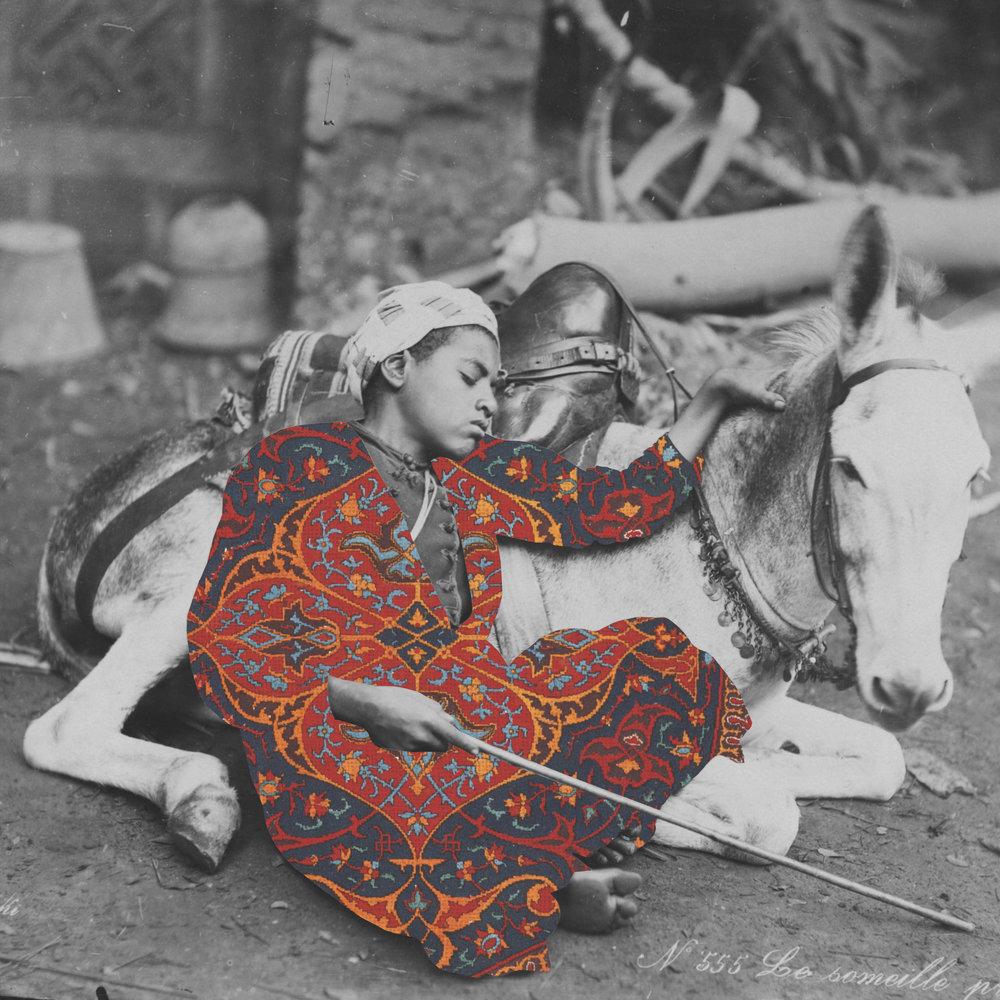 <b>Beya Khalifa</b></br><i>Companion</i></br>Antique photograph and digital collage</br>Limited edition of 20</br>16 x 12 in</br>$300 unframed / $500 framed