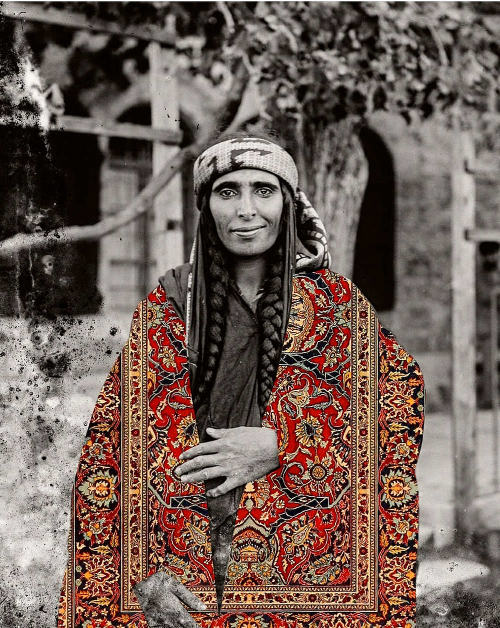 <b>Beya Khalifa</b></br><i>Doppleganger</i></br>Antique photograph and digital collage</br>Limited edition of 20</br>16 x 12 in</br>$300 unframed / $500 framed