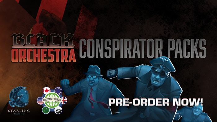 Black Orchestra Conspirator Packs  by Starling Games    Declassified conspirators join with new allies to expand the resistance network in Black Orchestra!    Pre-Order Now