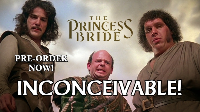 Princess Bride: Inconceivable!  by Sparkworks Games    A pack of The Princess Bride-themed cards that can be used in any game, or can be used to solve disputes in real life!