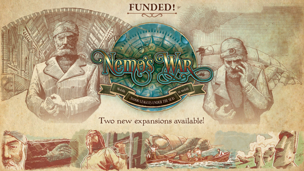 Nemo's War: Bold and Caring  &  Dramatis Personae Expansions  by Victory Point Games    Expand the horizon with the Bold and Caring & Dramatis Personae expansions for Nemo's War: Second Edition!    Pre-Order Now