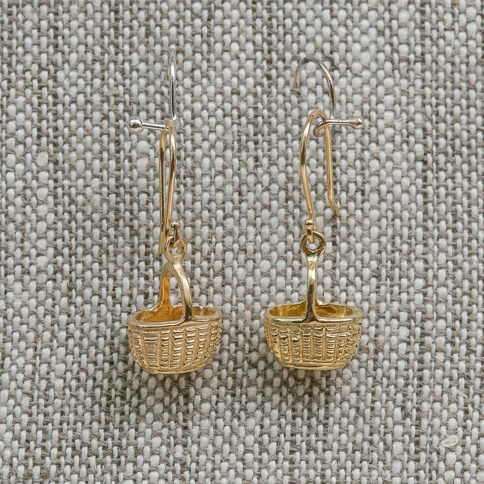 Oval Basket Earrings