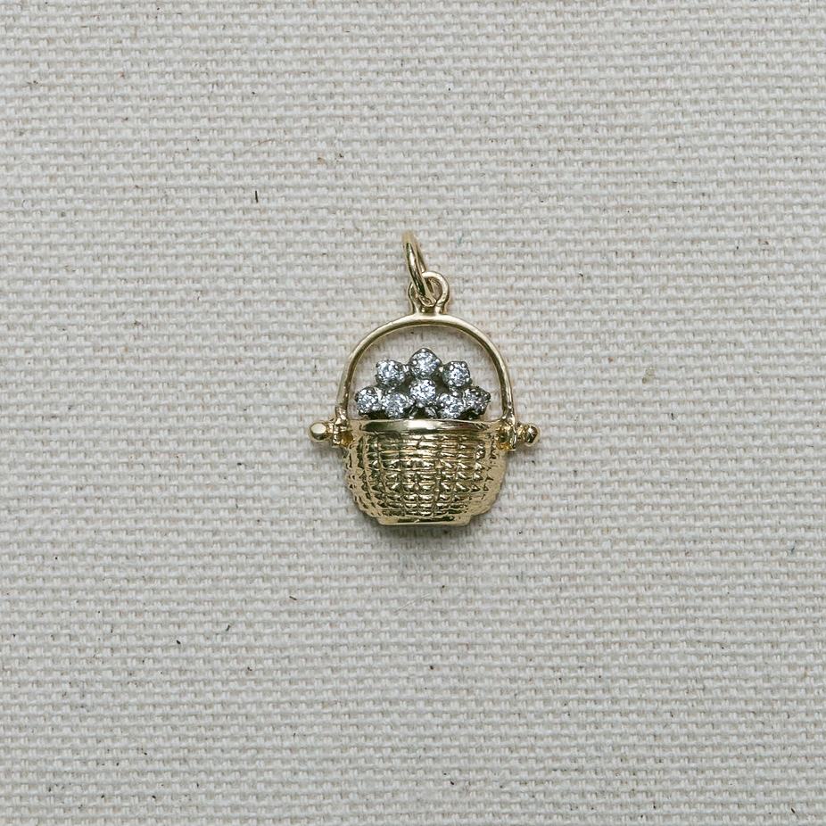 Half Basket with Diamonds Pendant