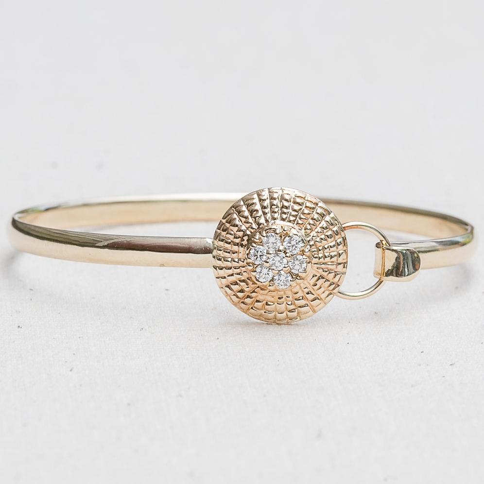 Diamond Basket Top Bangle