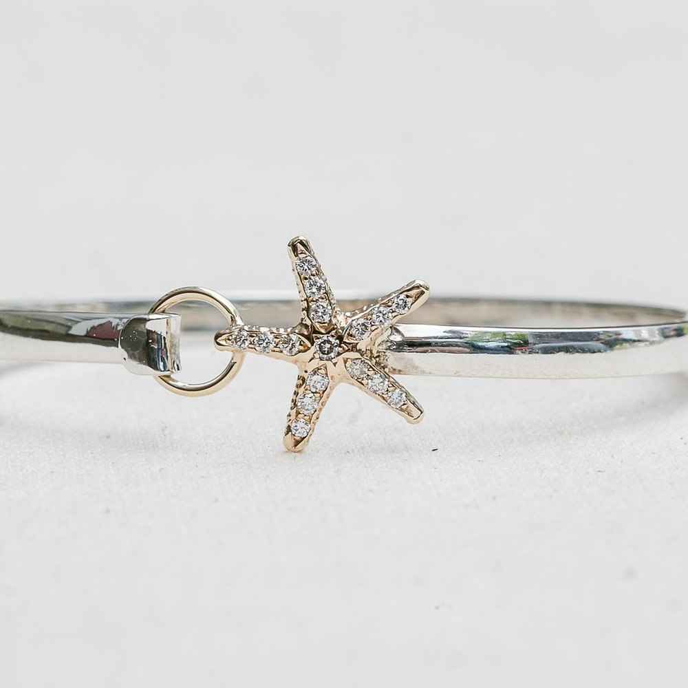 Diamond Starfish Bangle