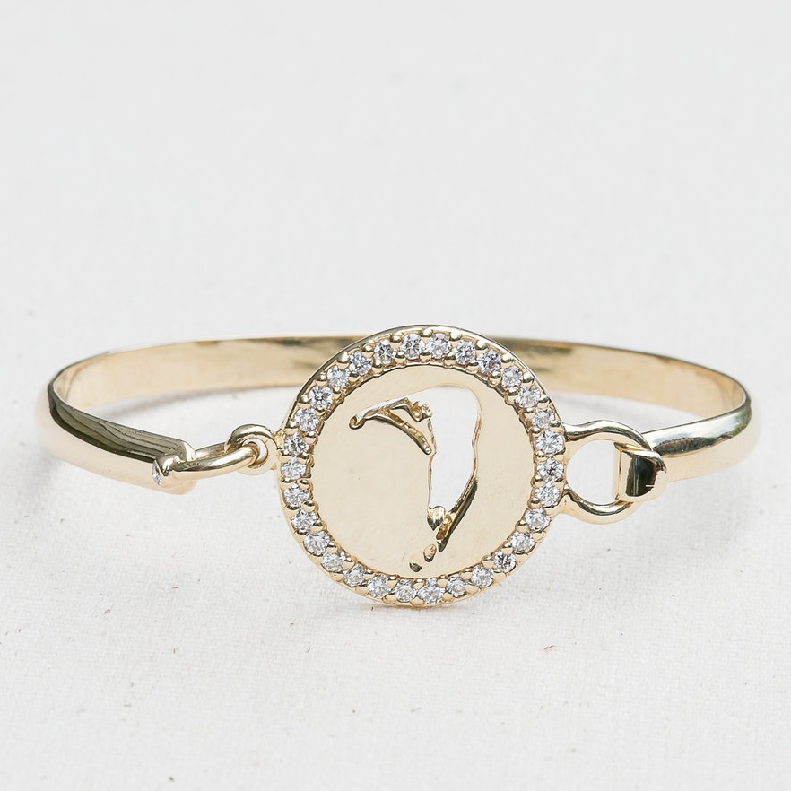 Diamond Map Cut Out Bangle