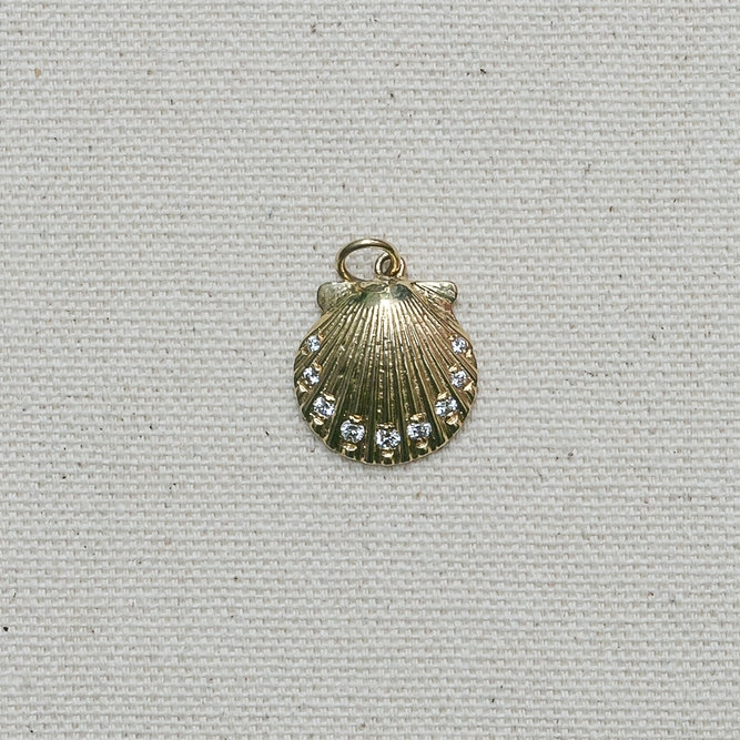 Diamond Scallop Pendant