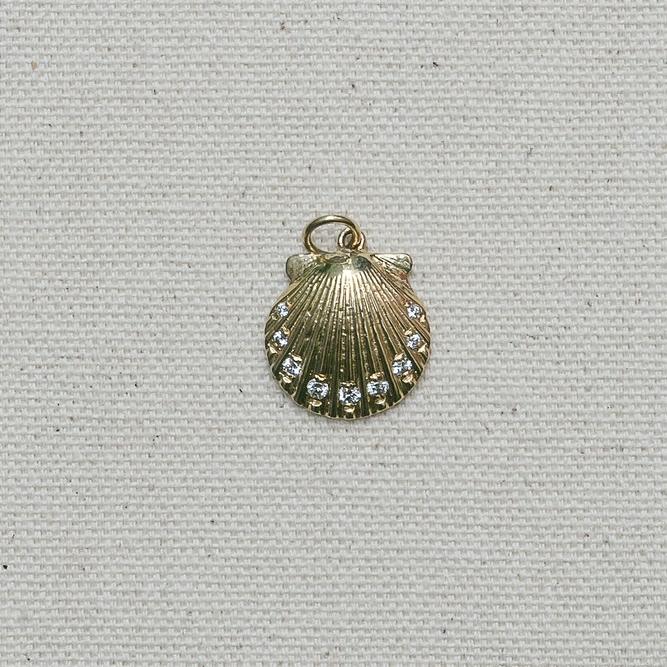 Diamond Scallop Pendant