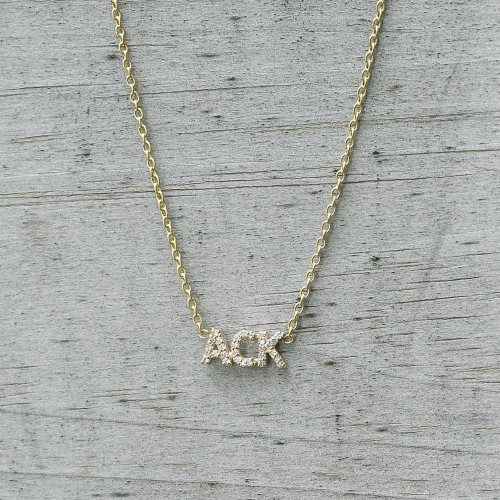 Diamond ACK Necklace