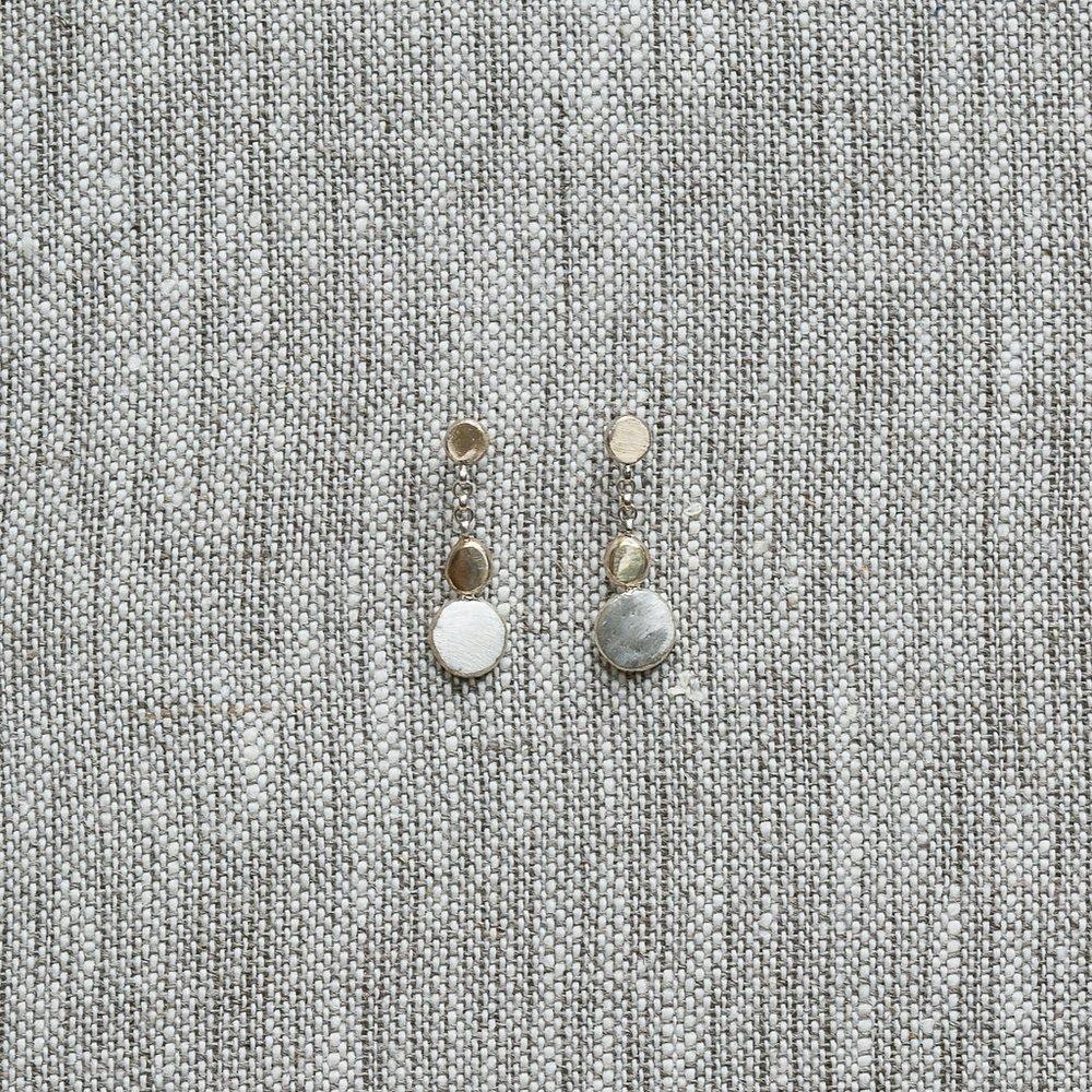 COBBLESTONE DANGLE EARRINGS