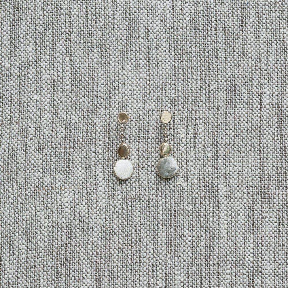 COBBLESTONE DANGLE EARRINGS