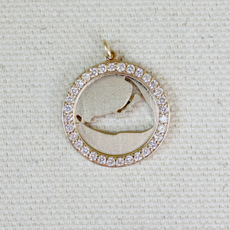 Diamond Map Cut Out Pendant Jewel In The Sea Nantucket