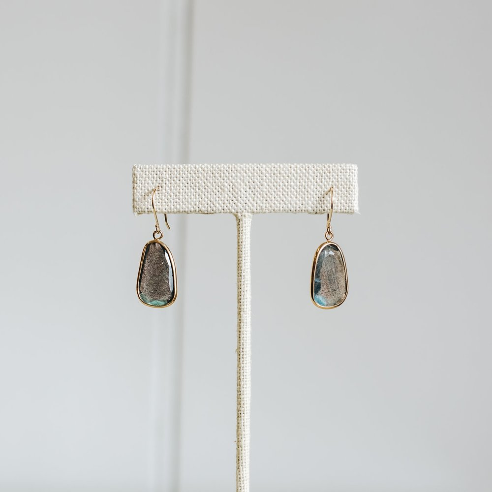 Labrodite Dangle Earrings