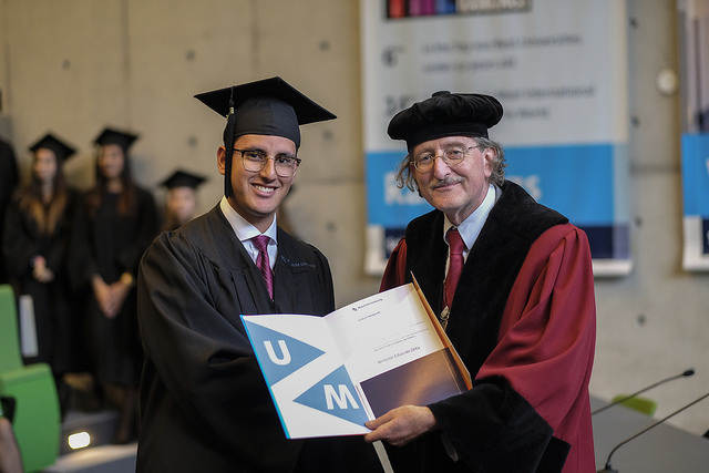 Graduation from the University of Maastricht - Bachelor of Laws (LL.B.) in European Law School - 2016 with Professor Rene de Groot.