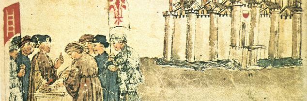 How the Comune of Florence Bought Lucca from Messer Mastino. Le illustrazioni delle Croniche nel codice Luccehese,  1978