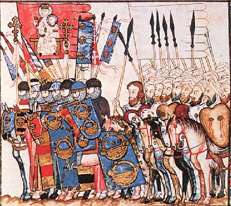 Umar al-Murtada and Frankish Mercenaries, Codex Rico, Ms TI1. Biblioteca de El Escorial, 13c.