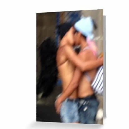 It's #FriskyFriday and here's a new #ValentinesDay #card!  This #sexy image of two #boys kissing was taken at #Pride in #MexicoCity a few years back. Why settle for your standard #hearts and #flowers when you've got #twinks in #angel wings?  #mexico, #gay, #gayboys, #kiss, #valentine, #love, #lgbt, #cdmx, #romance, #romantic, #boyfriend, #boyfriends, #novios #blurry, #impression, #impressionist, #emo #greetingcards  Link to #redbubble store in bio