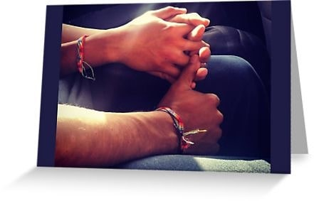 It's Try a Little #Tenderness Tuesday :) Today's #ValentinesDay image was snapped in the back seat of a car in #MexicoCity.  #gay #boys #mexico #cdmx #romance #handholding #rainbow #hands #love #boyfriend #valentine #valentines #lgbt #lgbtq #queer #Pride #novio #greetingcard #cards #gifts #redbubble  Link in bio