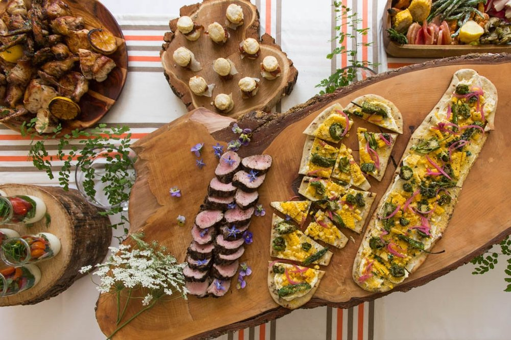 Buffet Dinner - Best For:Outdoor weddings or weddings with limited budgets. Great way to showcase a wide variety of seasonal foods