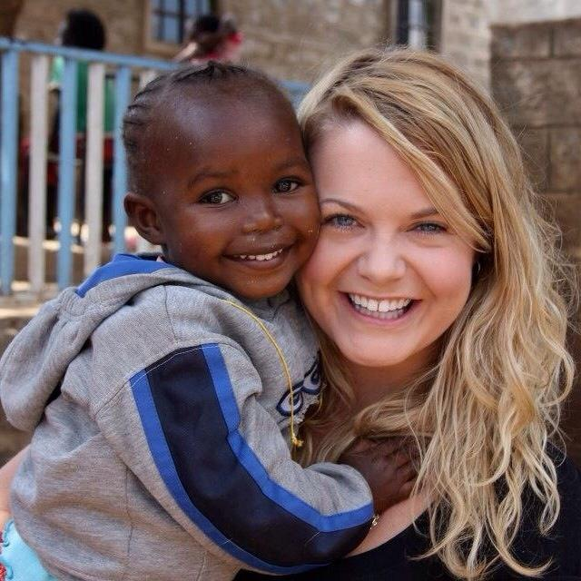 Hope for Huruma Foundation founder, Emmy Rickert, and Salma, one of Huruma's children.