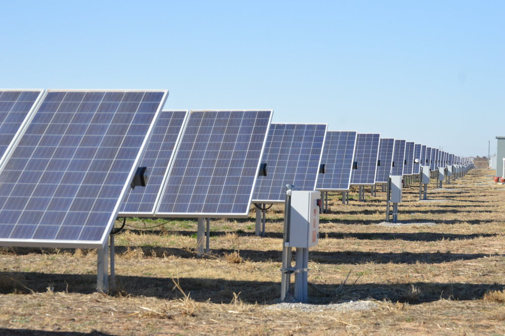 The Cyril Solar Site is a tracking solar facility capable of 5 mega-Watts (nameplate) of solar energy production in Caddo County, Oklahoma.