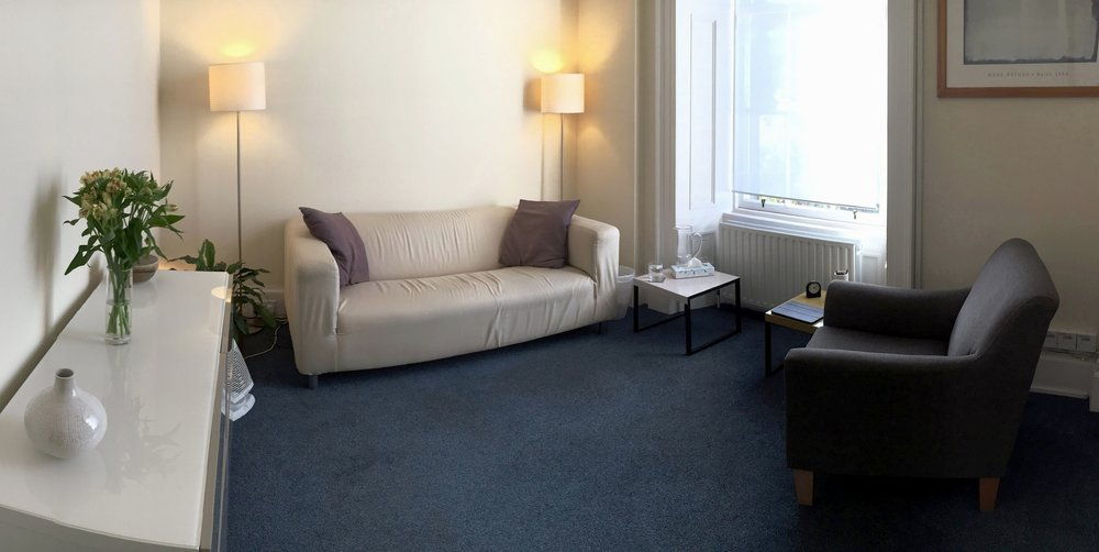 The counselling room at 7 Hopetoun Crescent, Edinburgh, EH7 4AY