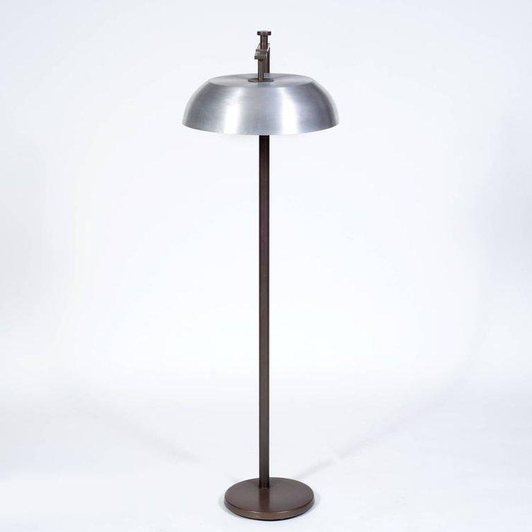 Kurt Versen Spun Aluminium and Patinated Brass \