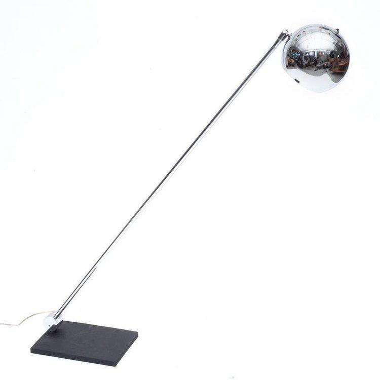 Robert Sonneman Adjustable Chrome Eyeball Floor Lamps, USA, 1960s ...
