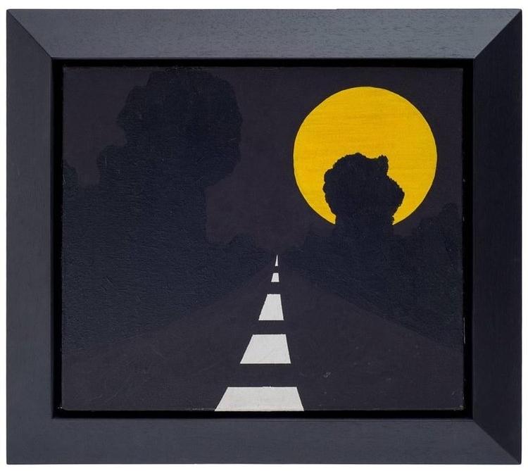 Allan D'Arcangelo,  Moon , Acrylic on canvas, 1963
