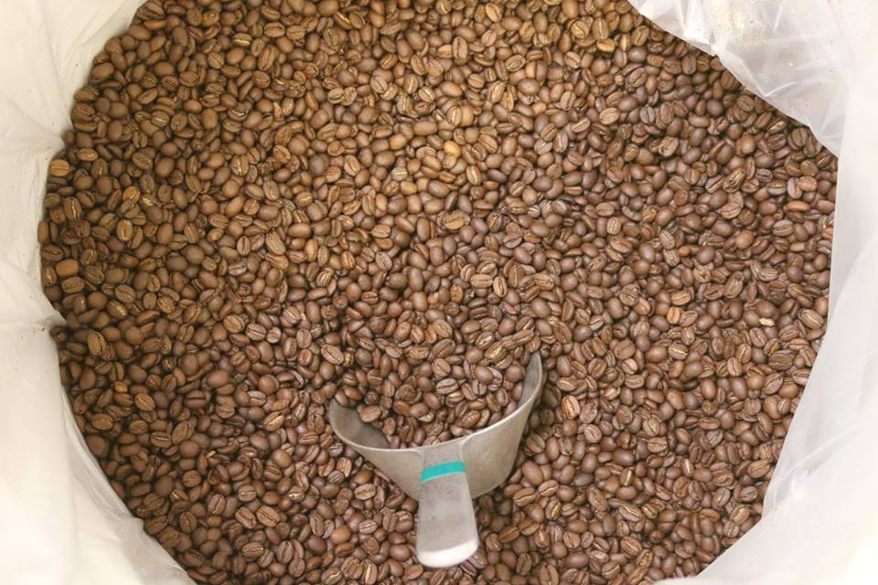 A great coffee ruined by a hideous dark roast. Just kidding. Our production medium, Agtron 55 or so.