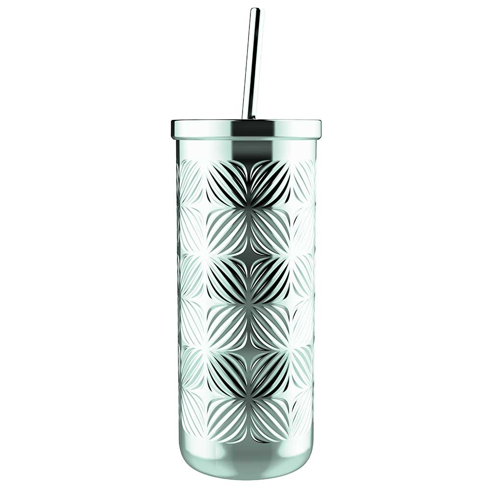 Asher Vacuum Insulated Stainless Steel Tumbler with Straw