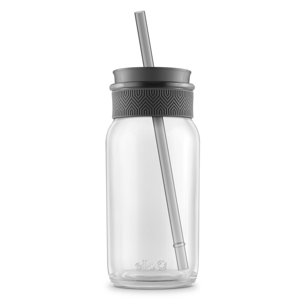 Kella Glass Tumbler with Straw
